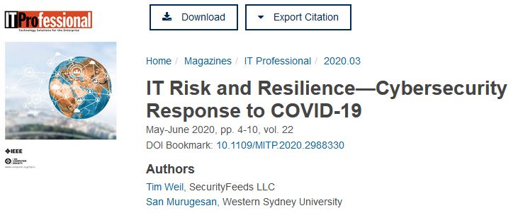 Cybersecurity response to COVID-19